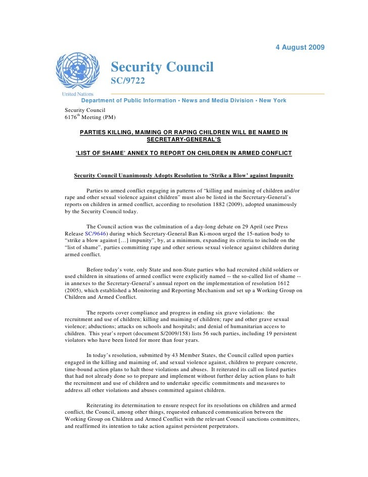 Unsc Res