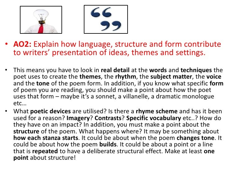 poetry analysis essay structure Poetry analysis essays discuss the formal process of exploring the various aspects of a poem, including content, structure, rhythm and meter, form, and even its history.