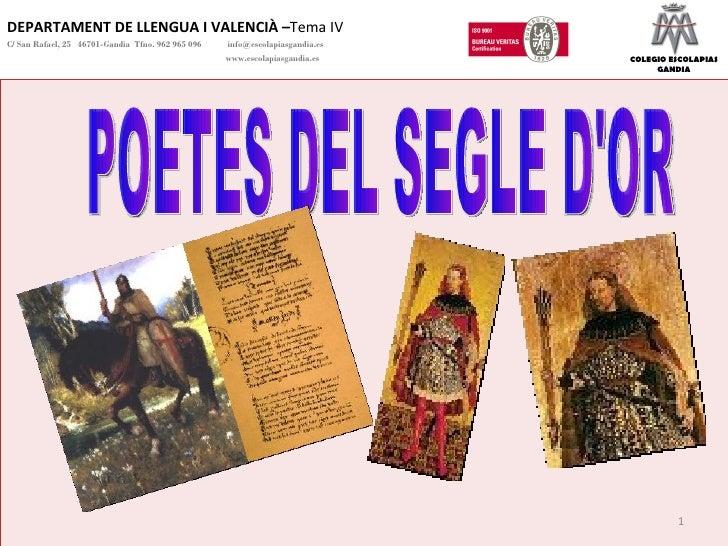 Un segle d'or per a la poesia tema 5