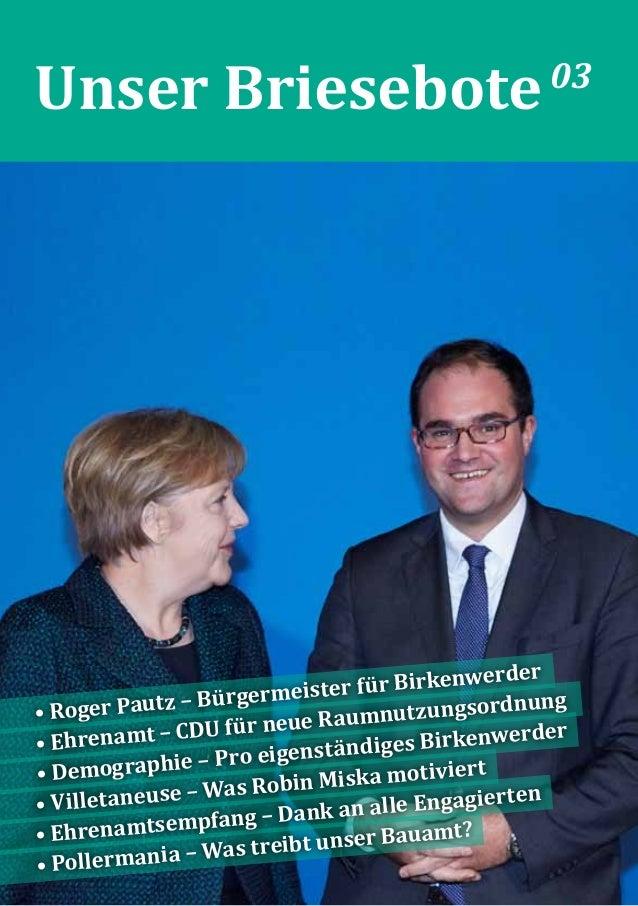 Unser Briesebote03 • Roger Pautz – Bürgermeister für Birkenwerder • Ehrenamt – CDU für neue Raumnutzungsordnung • Demograp...