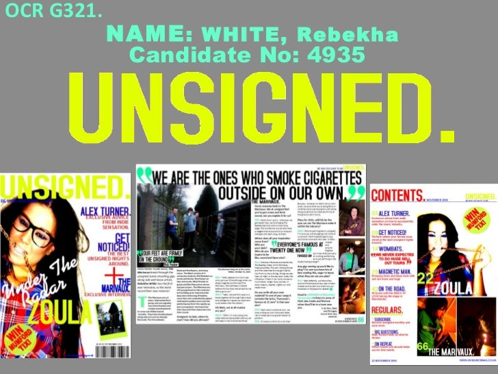 "A Grade PowerPoint ""Unsigned "" Music Mag"