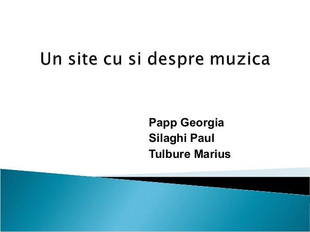 Un site cu si despre muzica