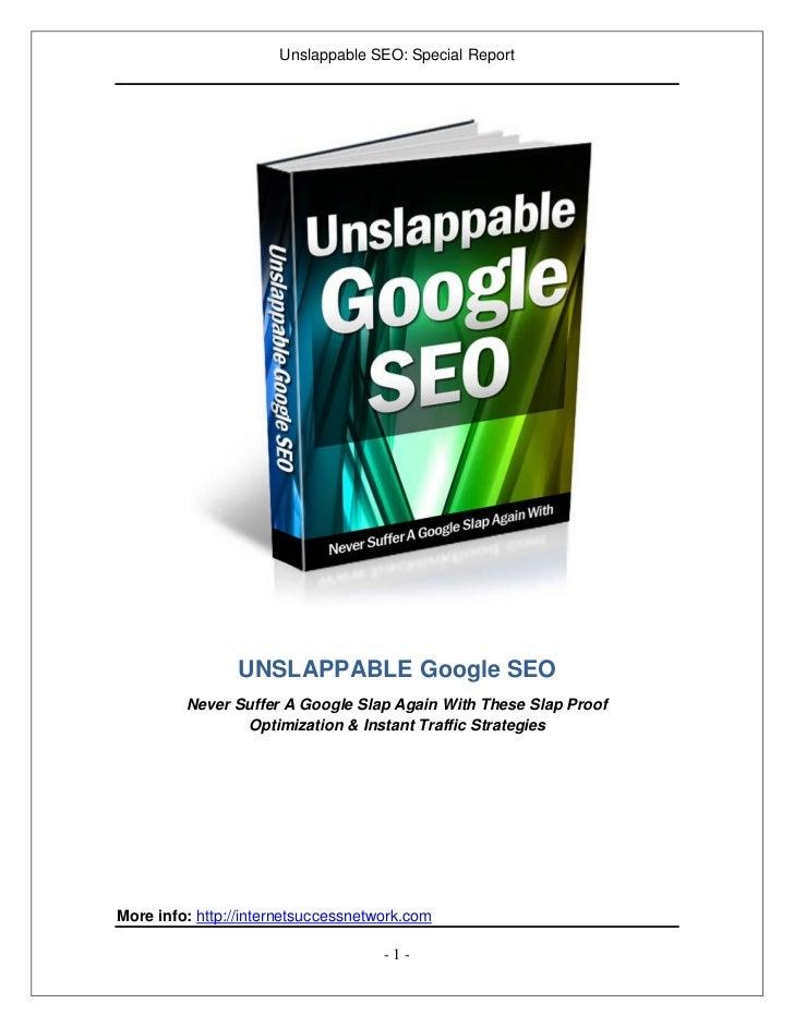 Unslappable Google SEO