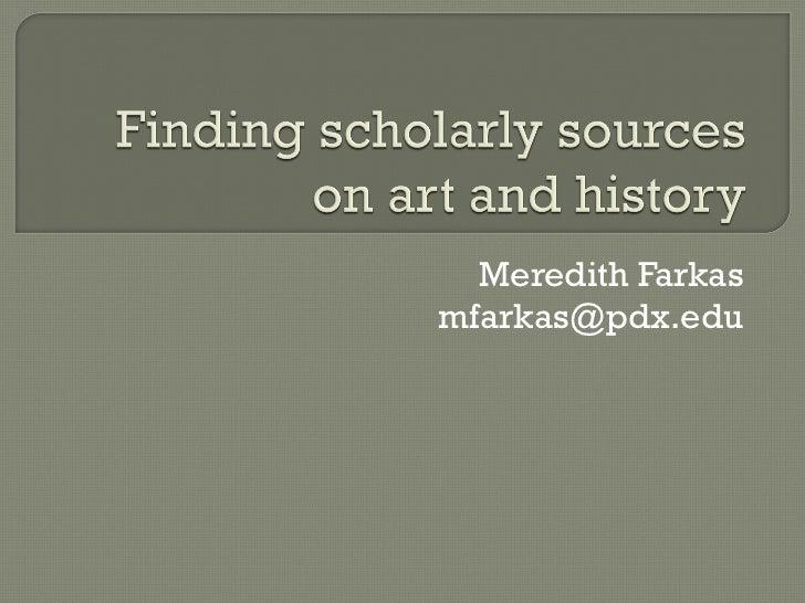 Meredith Farkas [email_address]