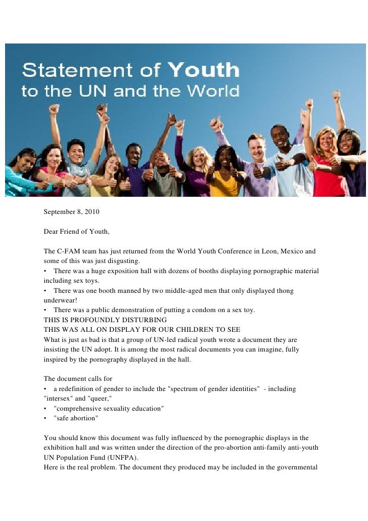 UN Statement of Youth