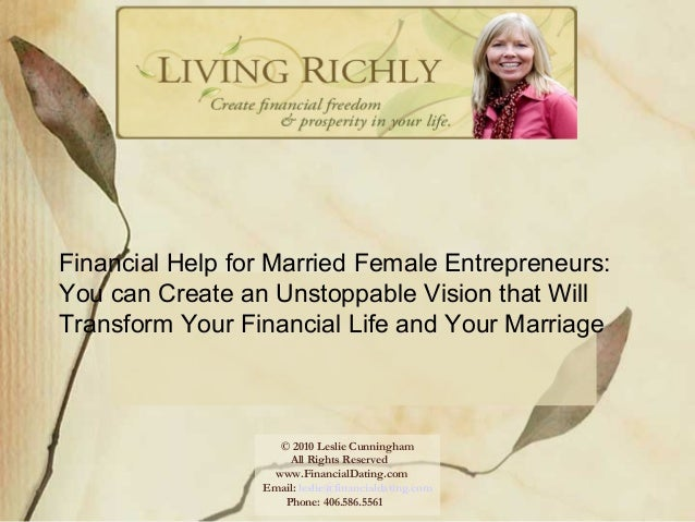 Financial Help for Married Female Entrepreneurs- You can Create an Unstoppable Vision