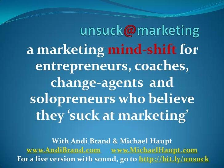 unsuck@marketing webinar