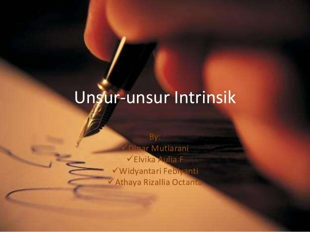 Unsur unsur intrinsik bahasa indonesia 1