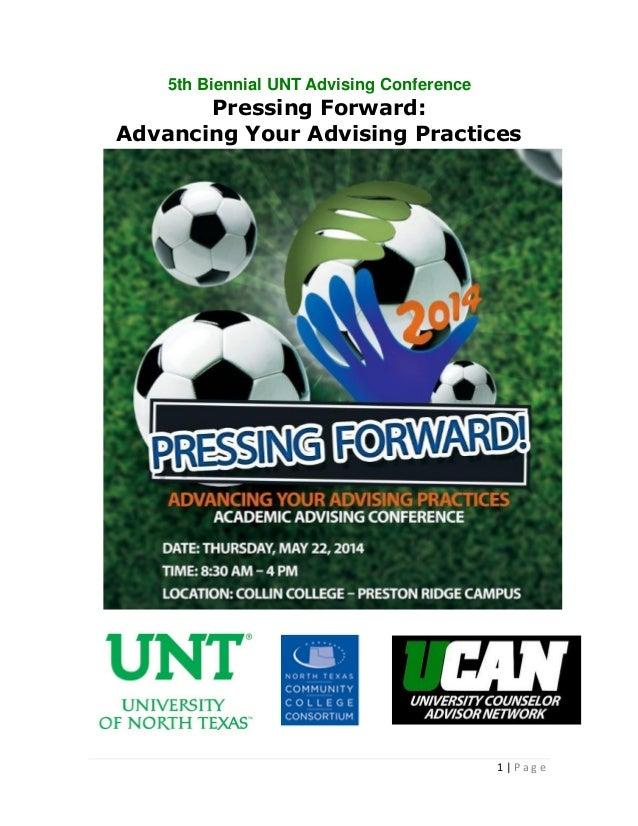 2014 UNT Advising Conference Program (#UNTAdv14)