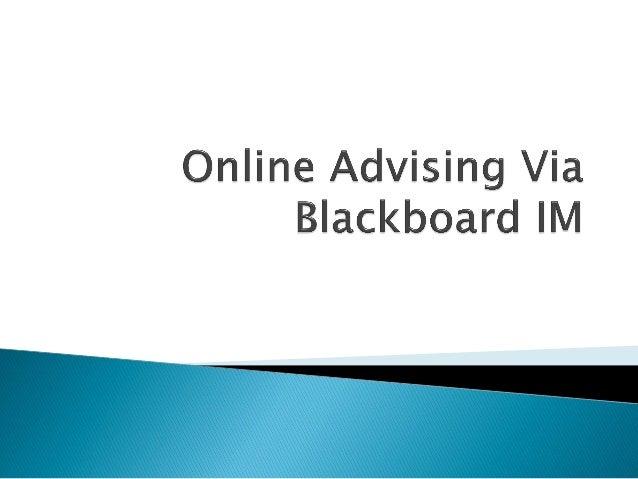 #UNTAdv14 Online Advising via Blackboard IM