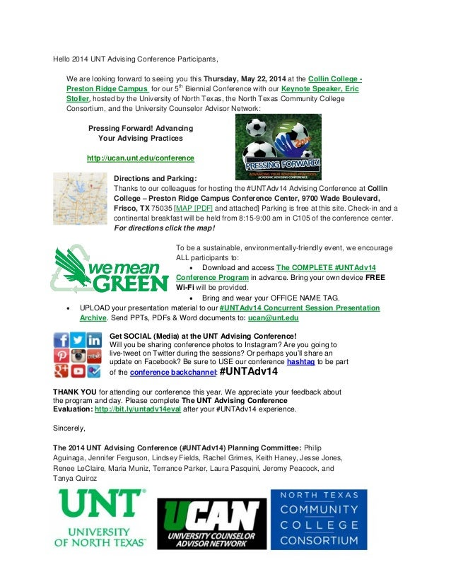 #UNTAdv14 Advising Conference Prep