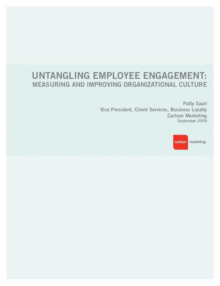 Untangling Employee Engagement 032811