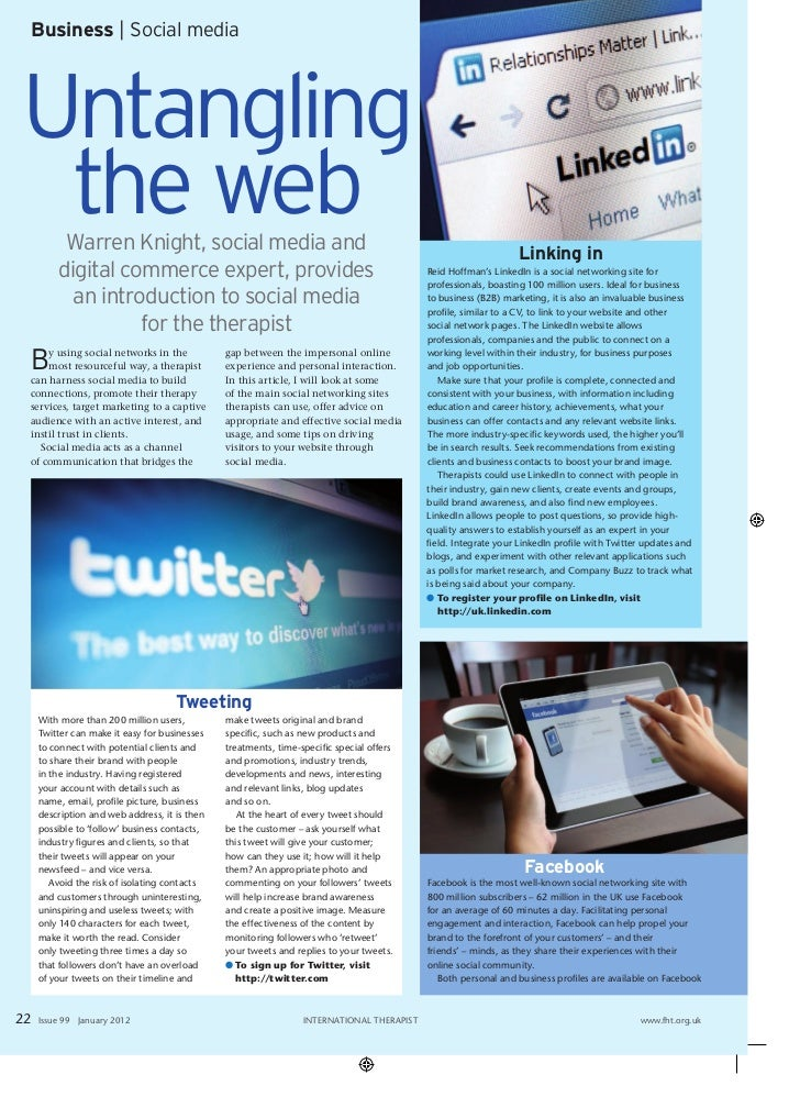 Business | Social mediaUntangling the web  Warren Knight, social media and                                                ...