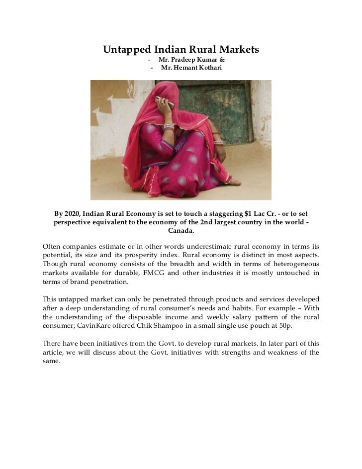 Untapped Indian Rural Markets 260711
