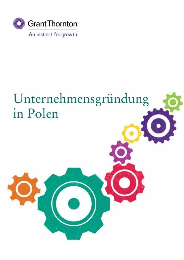 Unternehmensgründung in Polen (2014)