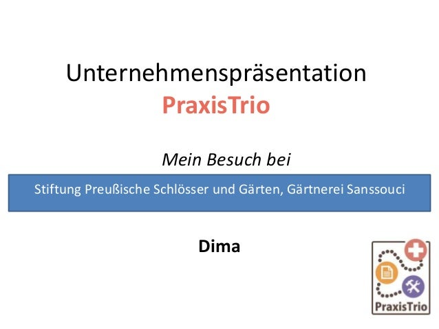 Unternehmenspräsentation von Dima: Gärtnerei Sanssouci