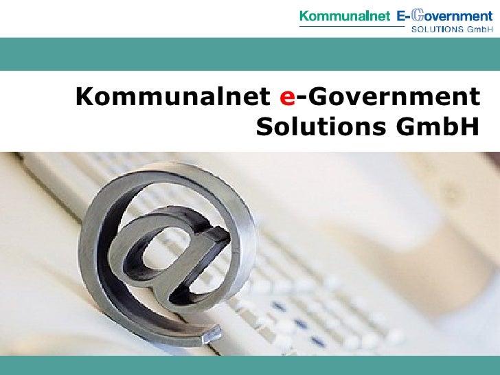 Kommunalnet  e -Government Solutions GmbH