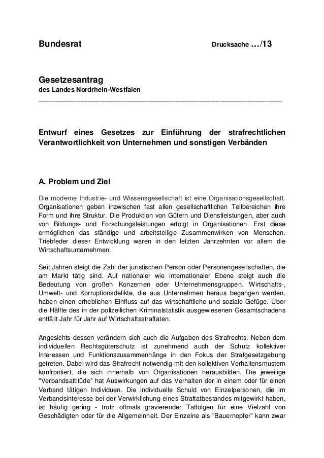 Bundesrat  Drucksache  …/13  Gesetzesantrag des Landes Nordrhein-Westfalen _______________________________________________...