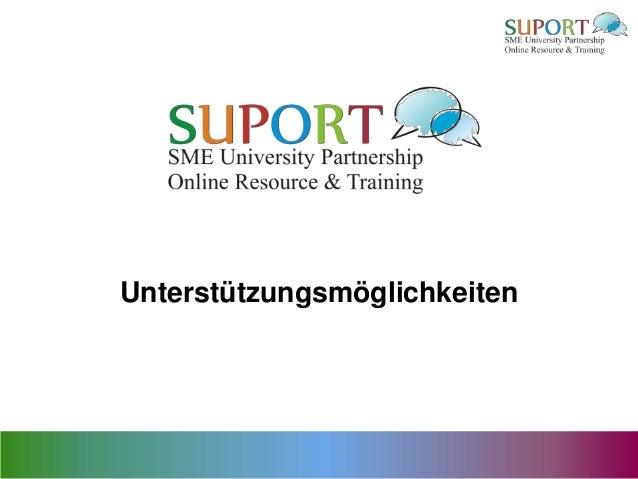 Unterstützungsmöglichkeiten