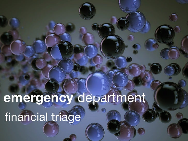 emergency department financial triage
