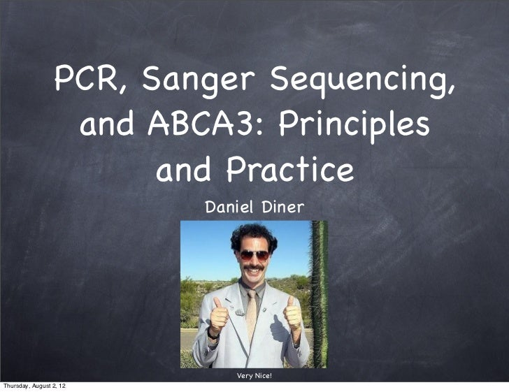 PCR, Sanger Sequencing,                  and ABCA3: Principles                       and Practice                         ...
