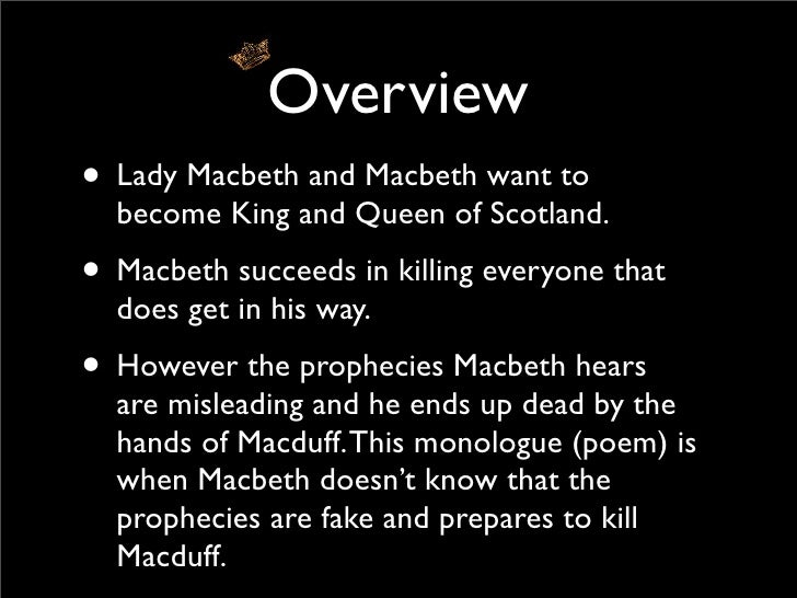 macduff monologue Essays - largest database of quality sample essays and research papers on monologue lady macduff.