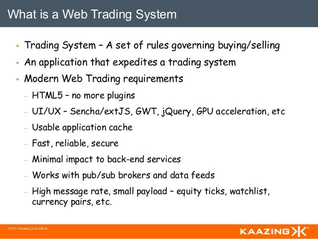 What is front office trading system