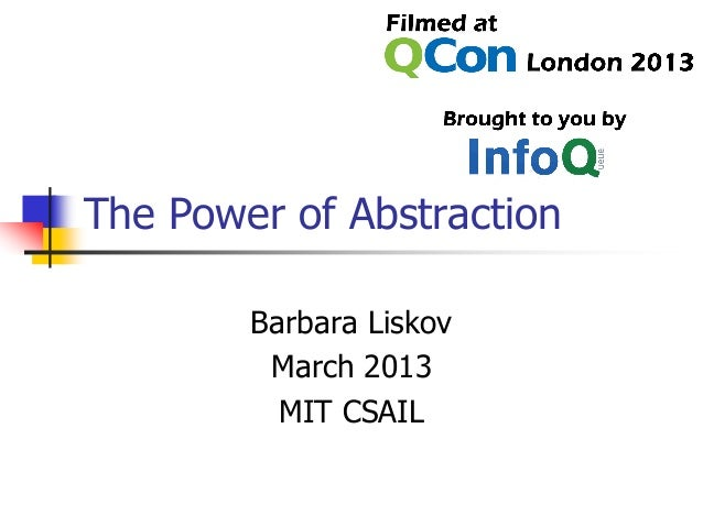Keynote: The Power of Abstraction