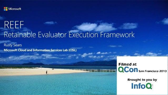 REEF: Retainable Evaluator Execution Framework