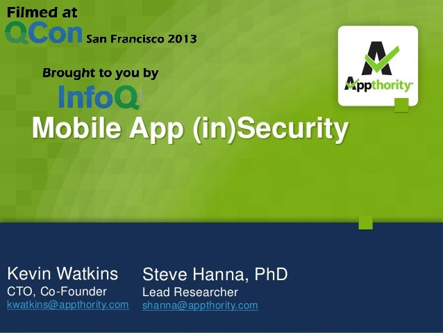 Common Security Pitfalls for Mobile Apps in the Enterprise