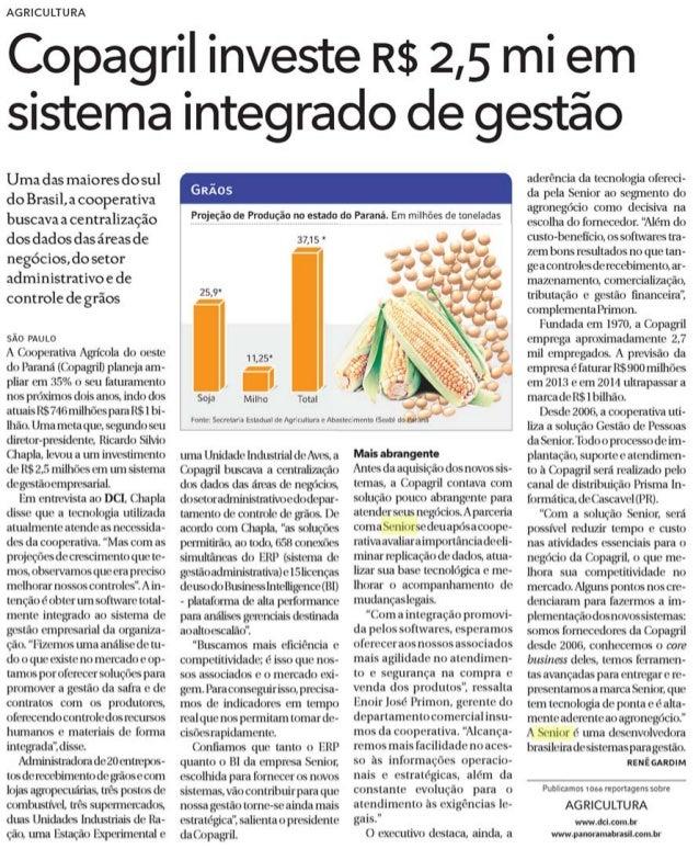 DCI - Diário Comércio Indústria & Serviços | Copagril investe R$ 2,5 mi em sistema integrado de gestão