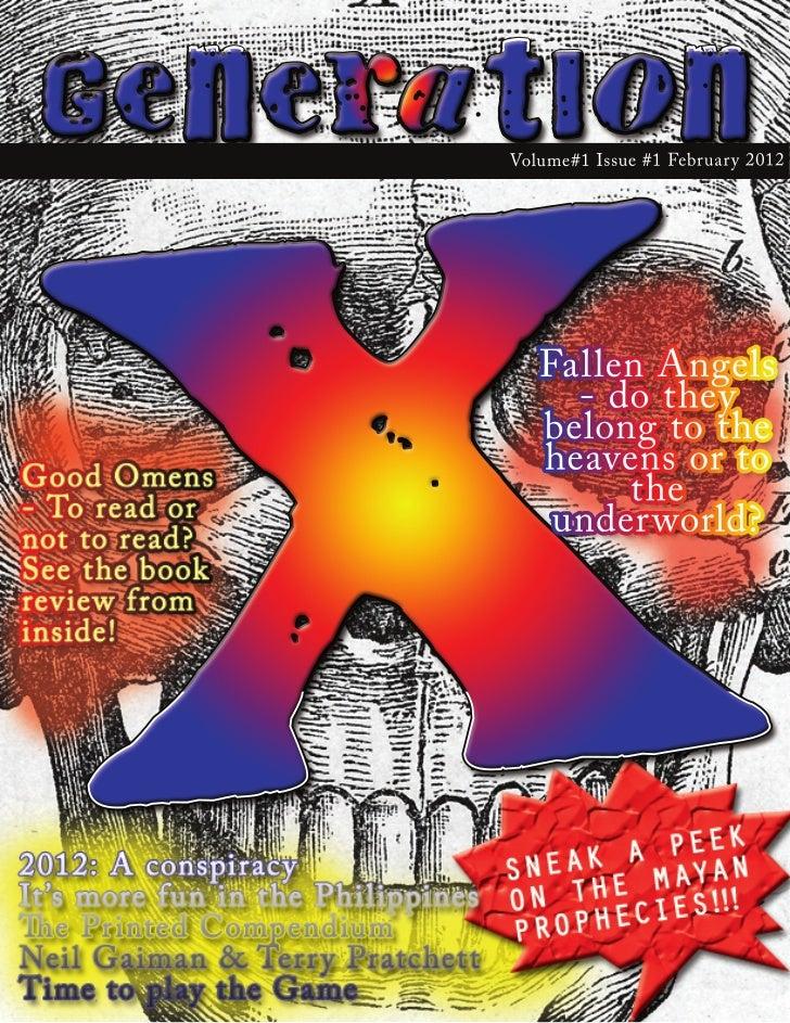 XG e n e rat i o n           Volume#1 Issue #1 February 2012              Fallen Angels                - do they          ...