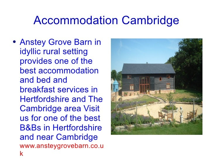 Accommodation Cambridge, Bed and Breakfast Cambridge,