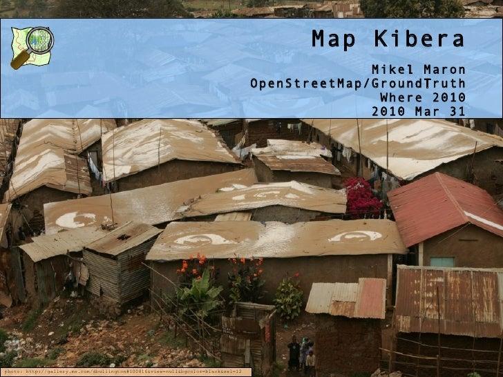 Map Kibera at Where 2.0