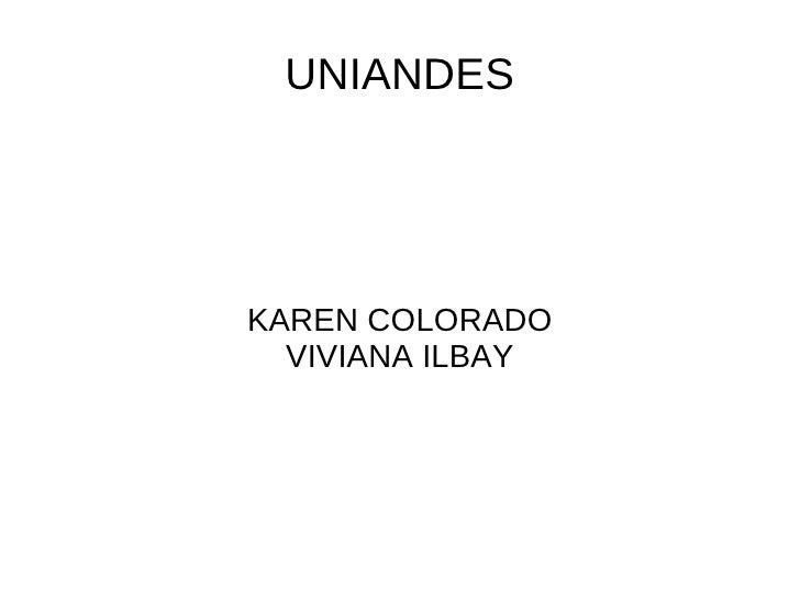 UNIANDESKAREN COLORADO  VIVIANA ILBAY