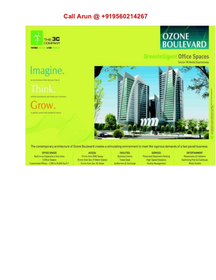 3c Ozone Boulevard Sector 98 Noida Expressway | +919560214267
