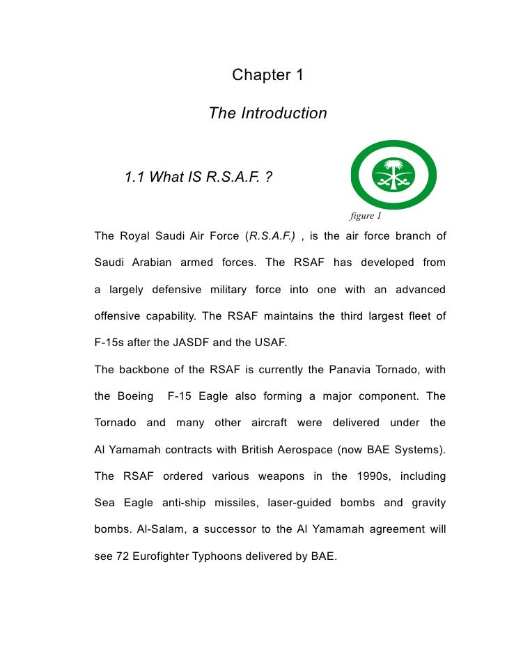 Chapter 1                     The Introduction     1.1 What IS R.S.A.F. ?                                                f...