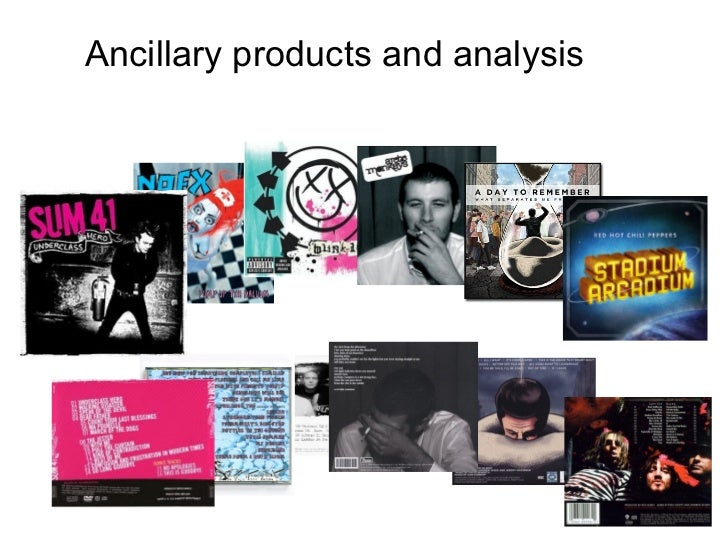 Ancillary products and analysis