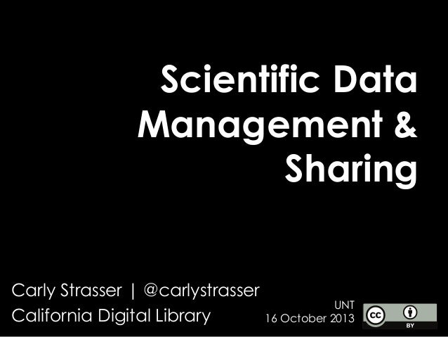 UNT: Scientific Data Management and Sharing