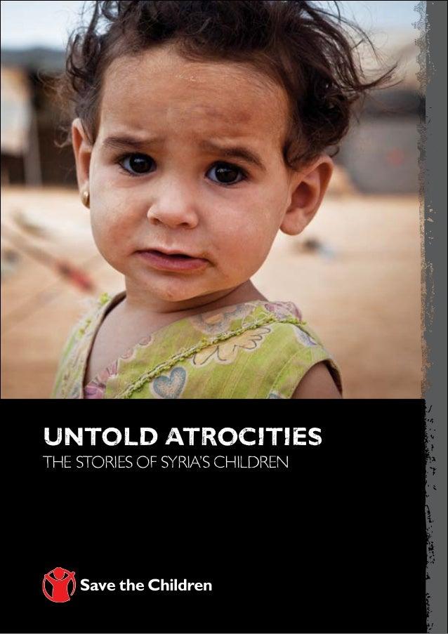 untold atrocitiesthe stories of syria's children