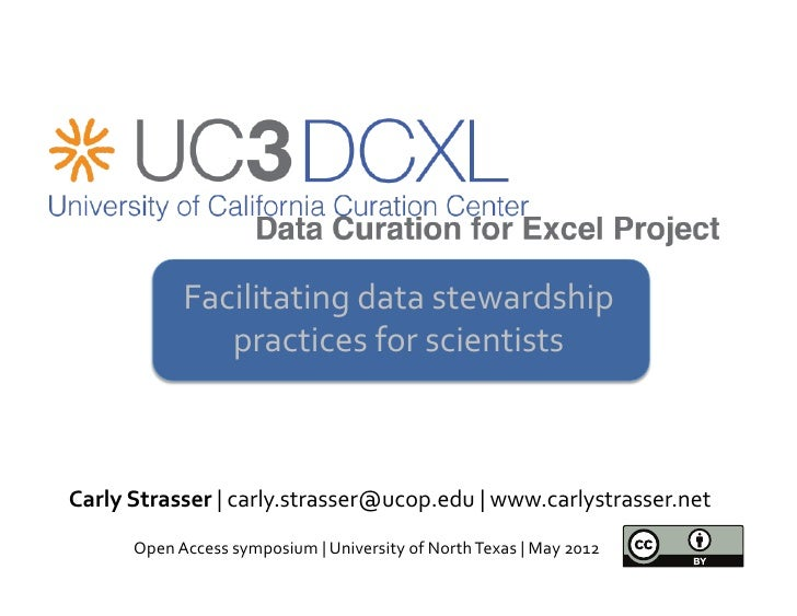 Facilitating data stewardship                     practices for scientists                                    ...