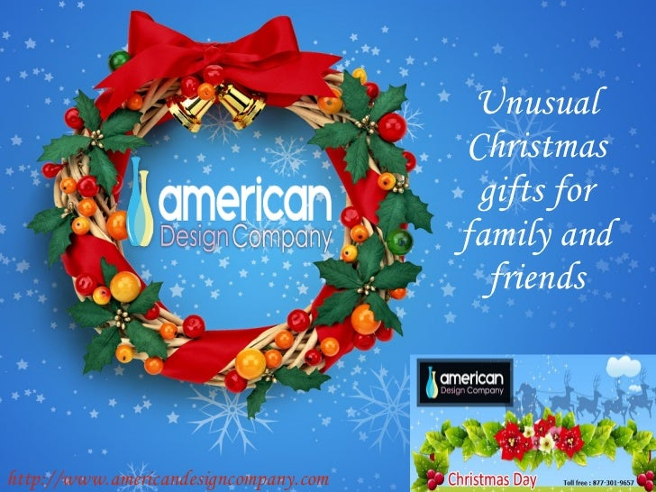 Unusual Christmas gifts for family and friends http://www.americandesigncompany.com