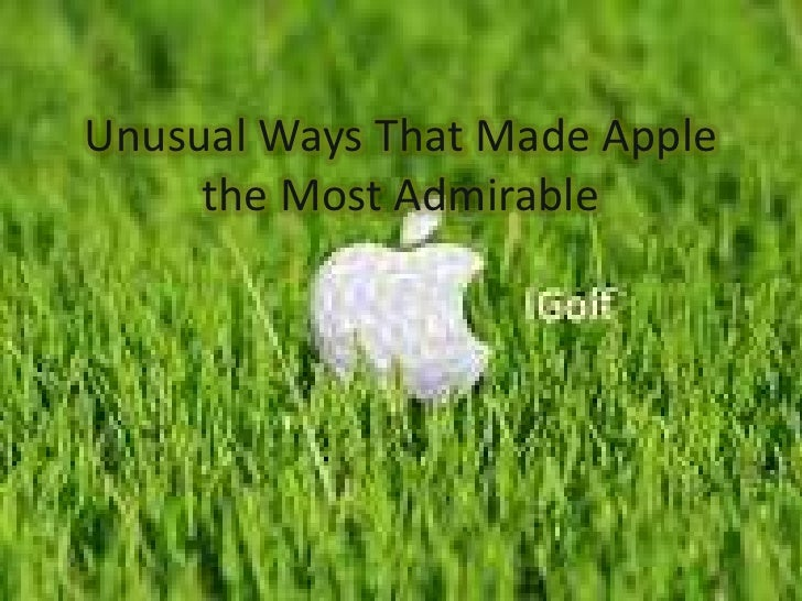 Apple The Most Admirable