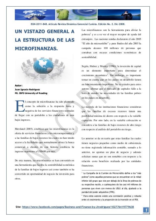 ISSN-2011-848. Articulo Revista Dinámica Gerencial Cunista. Ediciòn No. 2. Dic-2008.UN VISTAZO GENERAL A                  ...