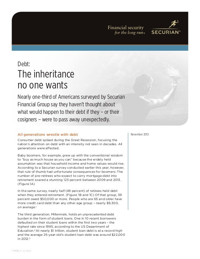 Debt: The Inheritance No One Wants | Securian