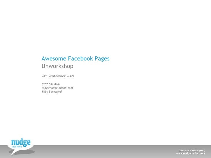 Tips on creating awesome Facebook pages