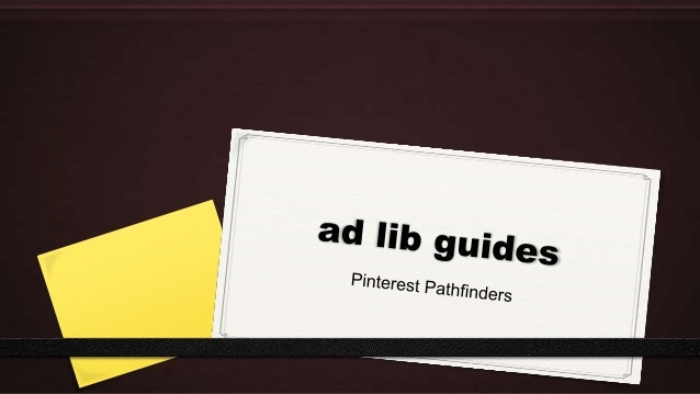 Pinterest for Business: Library Pathfinders and Marketing