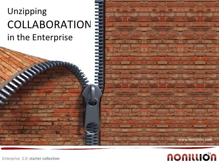 Enterprise  2.0:  starter collection Collaboration Unzipping  COLLABORATION in the Enterprise www.nonillion.com