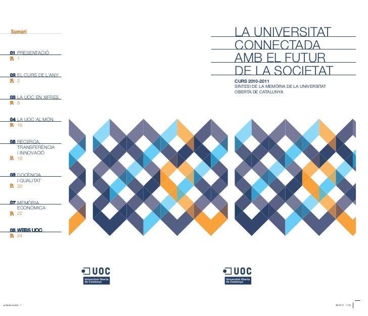 Memòria de la UOC. Curs 2010-2011 (Síntesi)