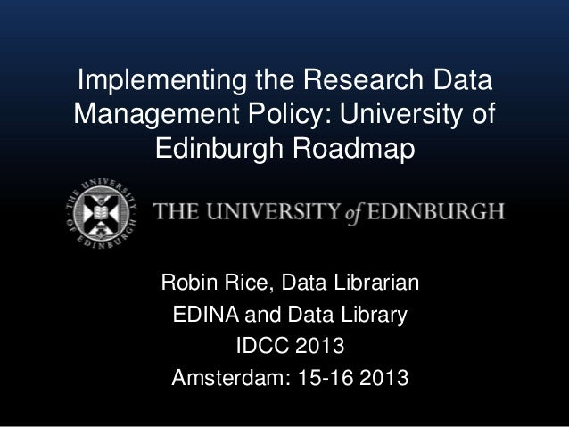 Edinburgh university research strategy